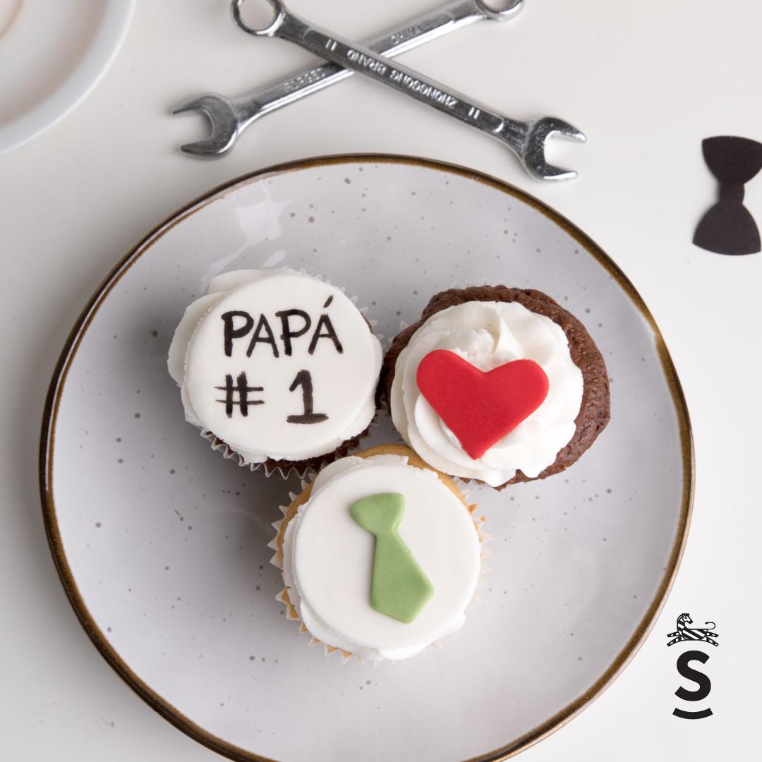 Suqiée Repostería - Día del Padre - Bollitos decorados del día del Padre
