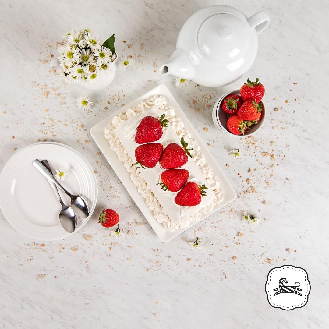 Suqiée Repostería - Enrollados - Enrollado de Fresas endulzado con Splenda