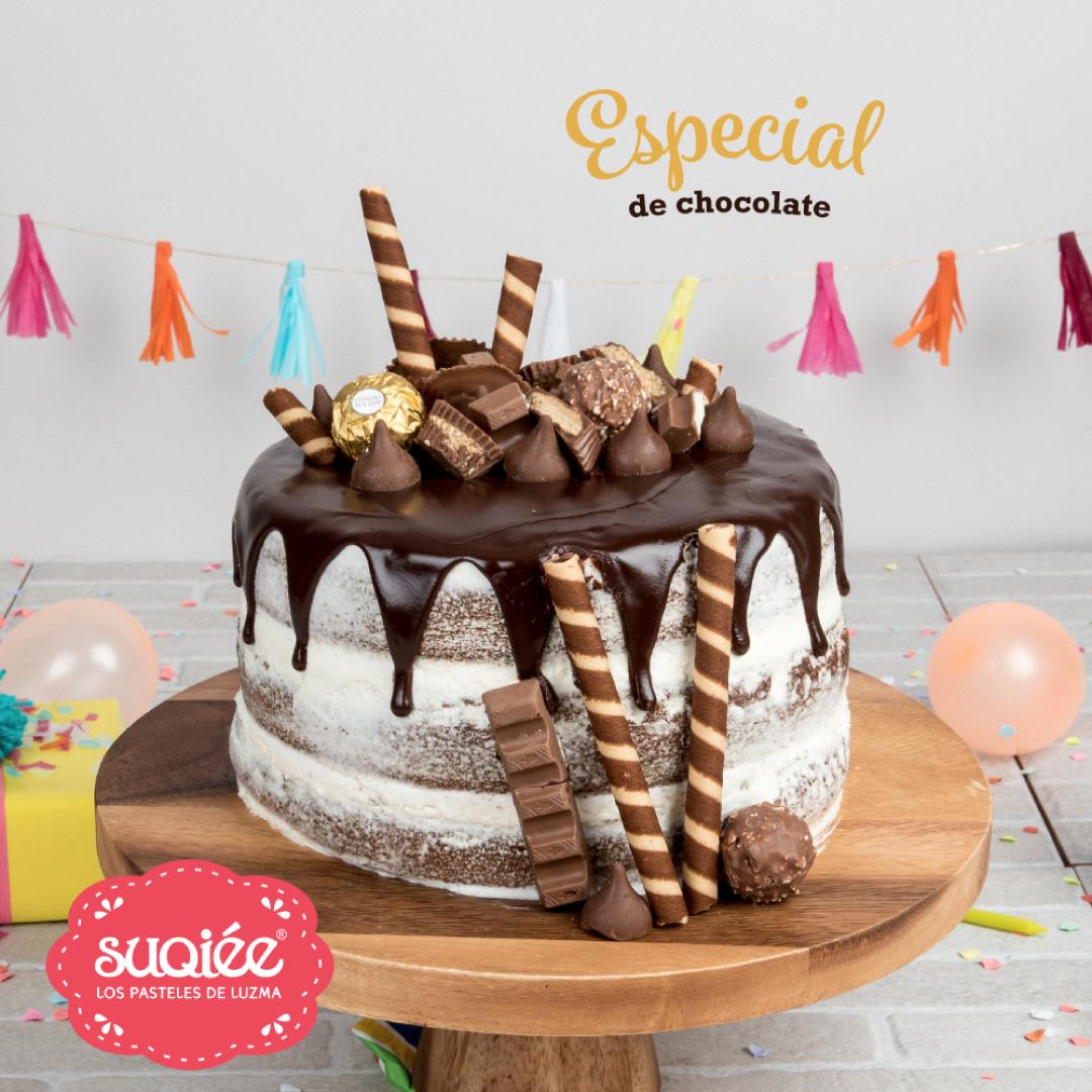 Suqiée - Los Pasteles de Luzma - 10 Años Celebrando - Pastel Especial de Chocolate